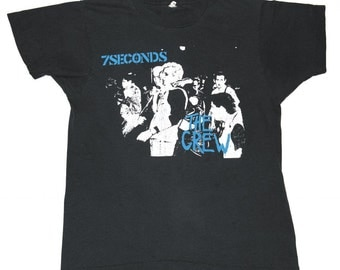 Vintage 1980s 1984 7Seconds 7 Seconds Punk Rock Descendents Original 80s T-Shirt