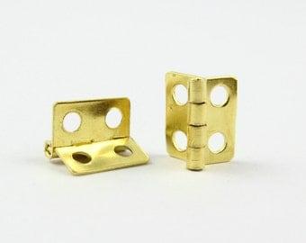 20Pcs Gold Hinge Small Hinge Box Hinge 13x12mm (HINGE02)