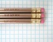 sh&t got real 3 gold pencil set.