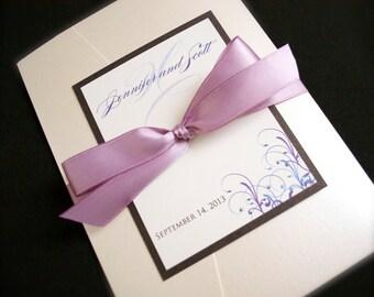 Pocketfold Wedding Invitations - Custom Pocket fold Wedding Invitations - Wedding Invitation Suite - Fully Assembled Wedding Invitations