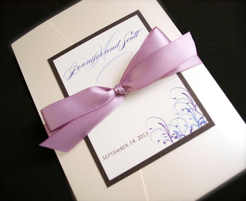 Wedding Invitations Pocketfold: Pocketfold Wedding Invitations Custom Pocket Fold Wedding