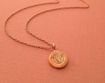 Lotus Necklace in Rose Gold -Rose Gold Lotus Necklace
