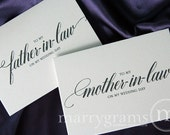 Wedding Card to Your Future Mother and Father in-law - Parents of the Bride or Groom Cards - Mother of the Groom Gift (Set of 2) CS04