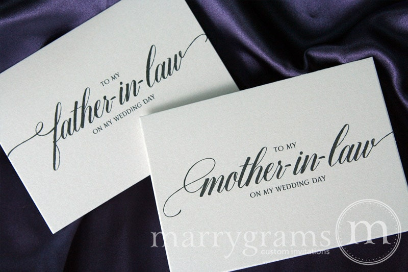 Future Mother In Law Gifts: Wedding Card To Your Future Mother And Father In-law Parents