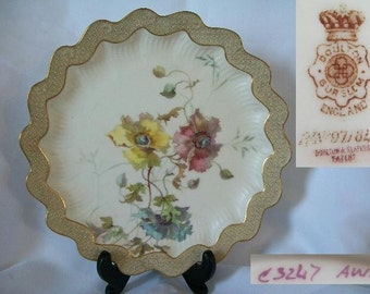 1888 Antique DOULTON BURSTEN Collectible Shelf Plate/Free Shipping