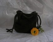 Wool Felted Bag Thick  in Rich Green
