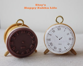 Wooden Rubber Stamp - Clock Modeling Creative Stamp - 1 Pcs