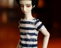 SD13 Navy And White Striped T Shirt For 1/3 BJD Boys