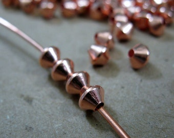 COPPER BEADS Rombo 4.8mm Beads 50 Pieces