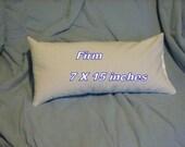 Mac's Set, Buckwheat Hull Firm Lumbar Pillow & 1 Lumbar Pillow Case, 100% Unbleached Cotton Muslin