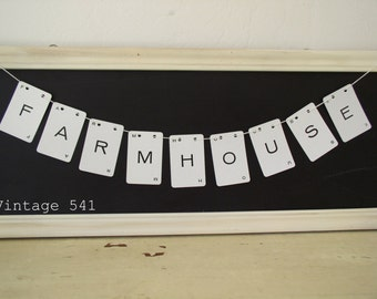 Vintage Letter Banner FARMHOUSE