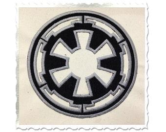 Star Wars Empire Applique Machine Embroidery Design - 4 Sizes