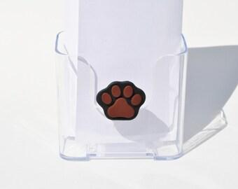 Paw Print Brochure or Literature Holder.  Pet Business.  Dog Brochure Holder.
