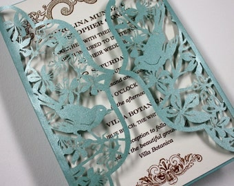Botanica Lasercut Invitation Suite