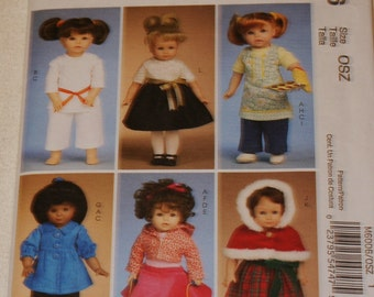 New McCall's 18' doll Clothes Pattern M6006