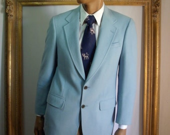 Vintage Allen Solly Light Blue Sport Coat - Size 40