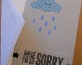 Apology Card, Blank Notecard, Stationery, Sympathy card