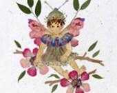 Sugar and Spice - Children's Flower Fairy Art - Petal Blossoms - 8 x 10 Fine Art Print - OOAK Keepsake