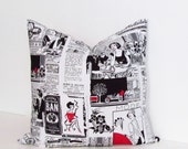 DECORATIVE PILLOW Cover Paris Newspaper Accent Pillow French Fashion Handmade in USA