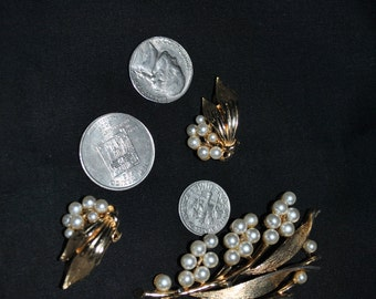 Lisner Brooch and Earrings
