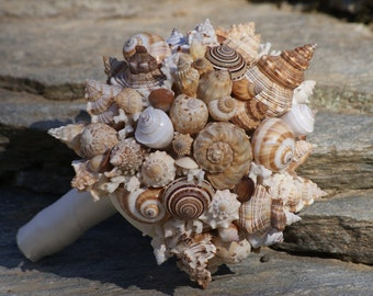 Seashell wedding Bouquet / Boutonierre Set , Beach Wedding, Seaside Wedding, Destination wedding
