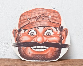Vintage Pirate Mask - Bad Guy Vintage Mask Cereal Bearded Man Cut Out Mask Cutout Mask Halloween