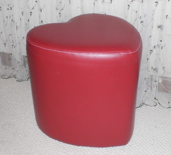 Items Similar To Vintage Red Heart Shaped Stool Bedroom