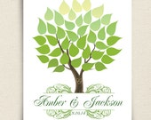 Unique Wedding Guest Book - The Seaswik - A Peachwik Interactive Art Print - 40 guests -  Summer Wedding Tree