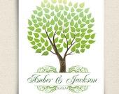Unique Wedding Guest Book - The Seaswik - A Peachwik Interactive Art Print - 100 guests -  Summer Wedding Tree