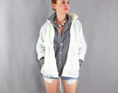 SALE Vintage Anorak Eddie Bauer White Preppy Jacket  Men's / Women's