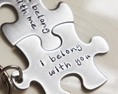 Couples Best Friends Keychain Set I Belong With You Puzzle Piece Wedding Gift Best Friend Boyfriend Girlfriend