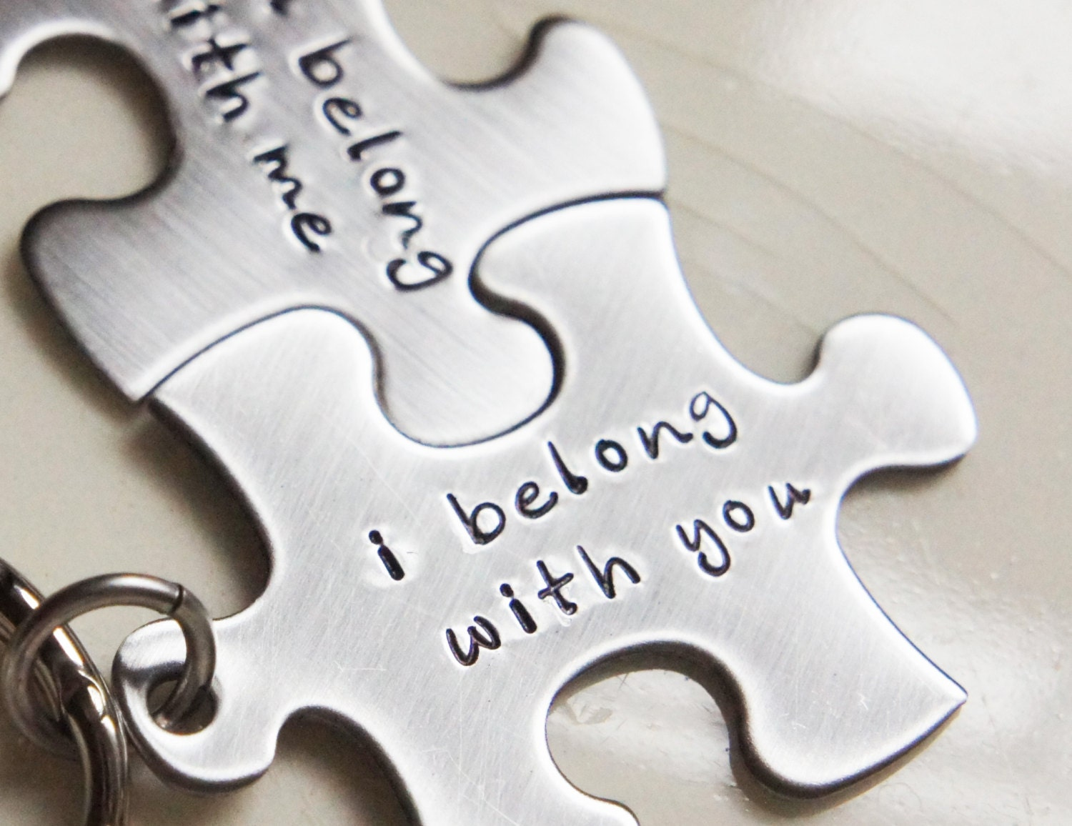 Best Friend Quotes For Couples : Couples best friends keychain set i belong with you puzzle