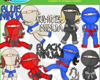Little Ninjas Clip Art