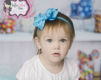 Frozen Inspired by Elsa Hairbow Headband - Sweet Treats Headbands Collection - Photo Props, Weddings, Bridal, Special Occasions, Birthdays