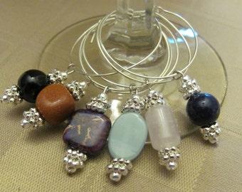 Gemstone Wineglass Charms