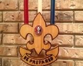 Boy Scout Eagle Ceremonial Candle Holder w/ Coin & Candles
