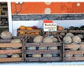 Rocky Ford Melons for Sale Fine Art Photographic Note Card