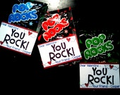 Valentine Cards for Boys and Girls - Pop Rocks or Rock Candy - Tags - Digital File