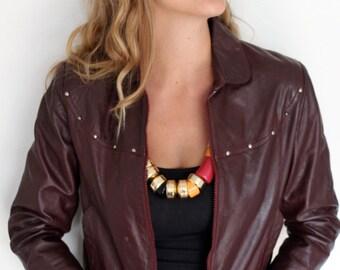 Vintage Wilsons Leather Jacket in Oxblood
