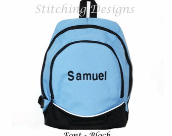 Toddler Backpack Almost Indestructible LIGHT BLUE with Name Included Boy or Girl