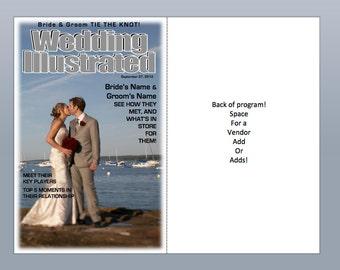 WEDDING ILLUSTRATED: magazine style wedding program