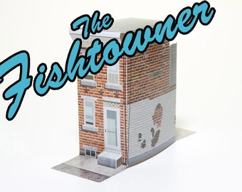The Fishtowner - papercraft toy rowhouse