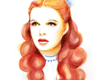 Watercolor portrait - Dorothy Judy Garland