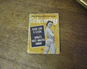 """Vintage 1954 scandal magazine. """" Celebrity"""""""