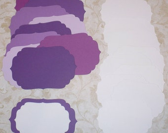 2 size Die cut Shapes 4 Layering Purple Passion colors Cardstock made from Spellbinder Dies