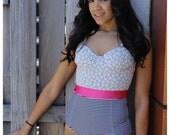 Lace Bustier Swimsuit