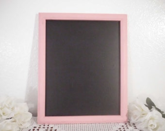 Valentines Day Pink Wedding Chalkboard Rustic Shabby Chic Distressed 11 x 14 Blackboard Paris French Country Farmhouse Cottage Home Decor