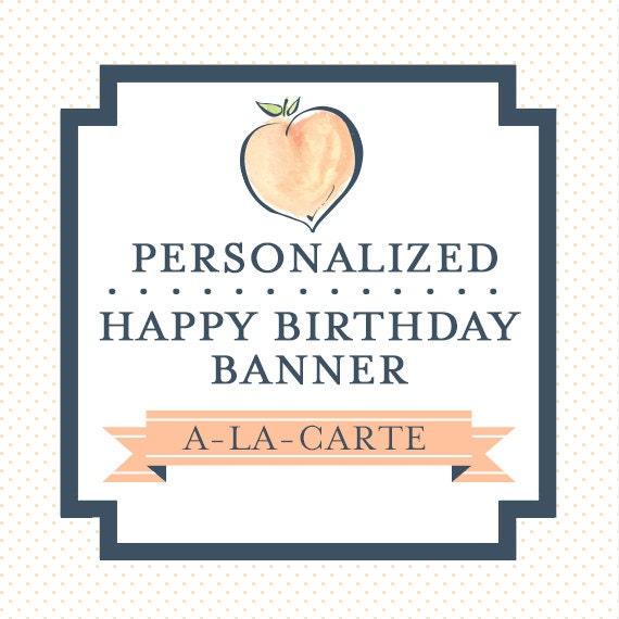 PERSONALIZED HAPPY BIRTHDAY Banner Custom By LibbyLanePress