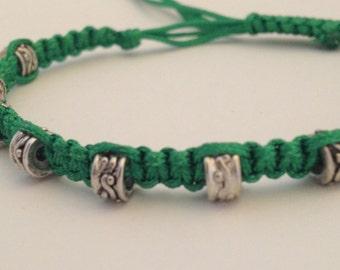 Skinny Grass Green Knotted Bracelet