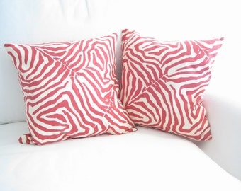 16 inch decorative pillow, zebra pillow, pillow cover, cushion cover, Pink Pillows for Daughter, bed pillows, Kid Pillows, Teenager Pillows